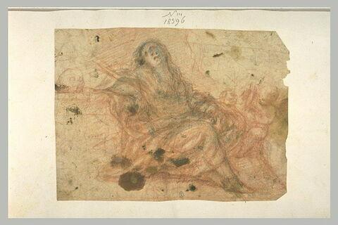 Madeleine pénitente en extase avec des anges
