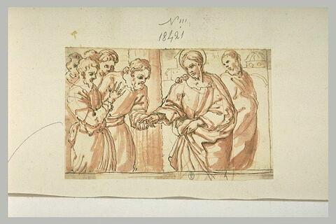 Le Christ guérissant un homme à la main sèche