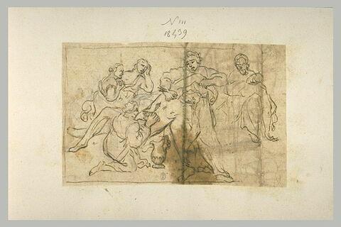 Saint Sébastien soigné par Irène, aidée de sa servante