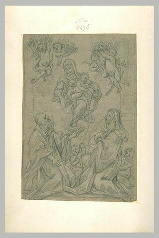 Vierge et L'Enfant donnant le rosaire à saint Dominique et sainte Catherine