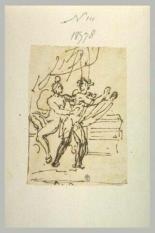 La femme de Putiphar retenant Joseph
