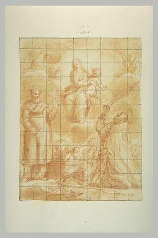 Saint Nicolas de Bari et un autre saint adorant la Vierge à l'Enfant