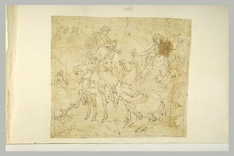 Apollon sur son char, et d'autres divinités