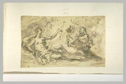 Danaé recevant la pluie d'or devant sa servante
