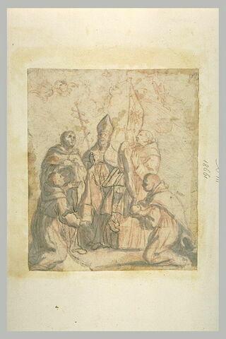 Un évêque et quatre religieux
