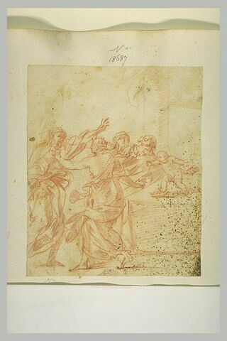 Moïse enfant foulant la couronne de Pharaon