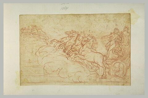 Le Soleil debout sur un char trainé par quatre chevaux