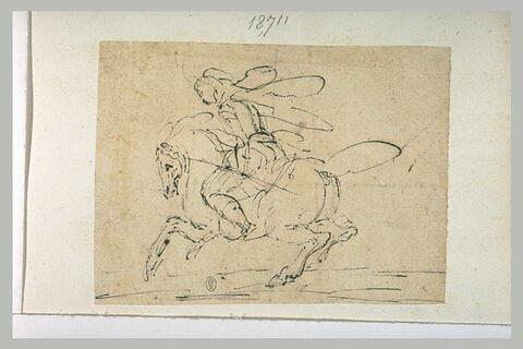 Cavalier sur son cheval galopant