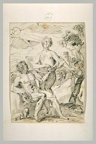 Eve donnant à Adam le fruit défendu