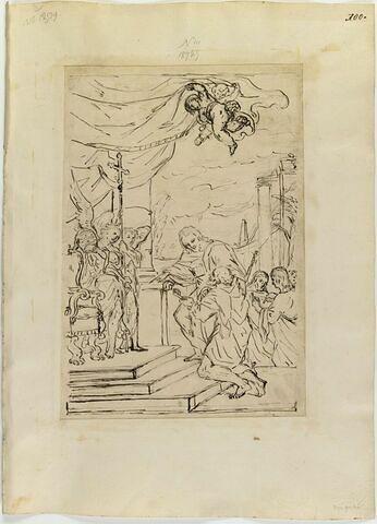 Christ désignant à saint Pierre agenouillé les attributs de la papauté