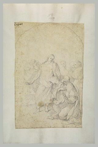 Le Christ s'adressant à saint Pierre