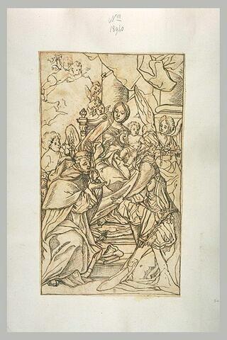 La Vierge et l'Enfant remettant le rosaire à saint Dominique