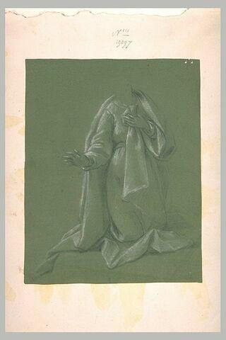 Etude de draperie pour une figure agenouillée