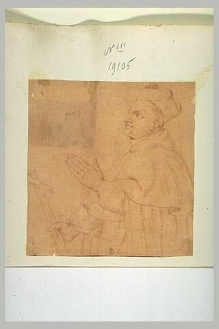 Un évêque tourné vers la gauche (saint François ?)