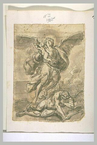 Un ange sauvant une âme du Démon