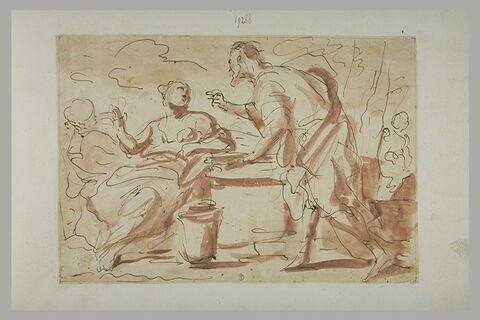 La rencontre d'Eliézer et Rebecca au puits