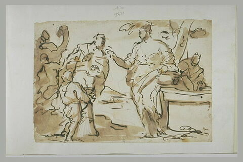 La rencontre de Rebecca et Eliézer au puits