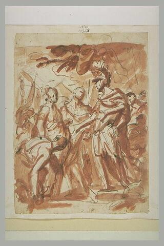 Alexandre recevant la famille de Darius (?)