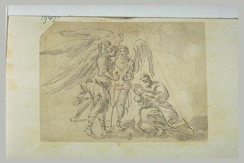 Abraham prosterné devant les trois anges