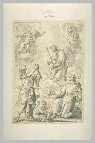 Trois saints en prières