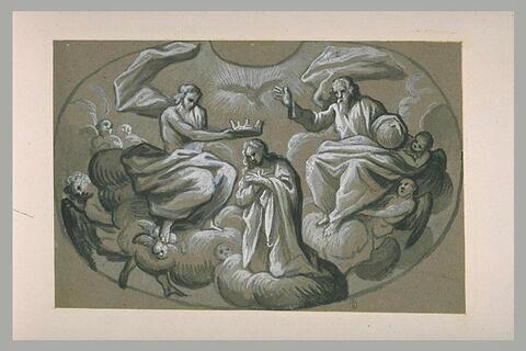 La Vierge couronnée par la Sainte Trinité