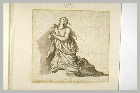 Sainte Madeleine, agenouillée, priant