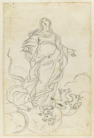 Vierge foulant le démon