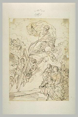 Sainte Famille avec l'Enfant contemplant les Instruments de la Passion