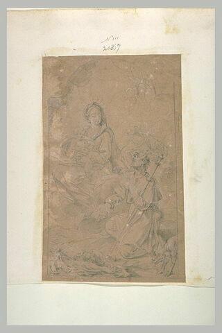 Saint Roch intercédant auprès de la Vierge pour la guérison des pestiférés