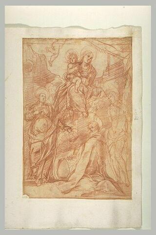 Vierge à l'Enfant avec sainte Brigitte, saint Sébastien et un saint évêque