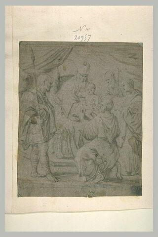 Pape présentant l'Enfant à des saints