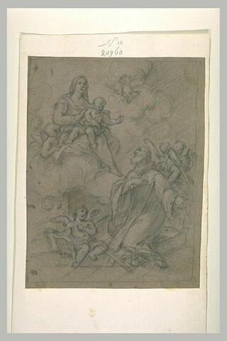 Saint Antoine adorant la Vierge à l'Enfant