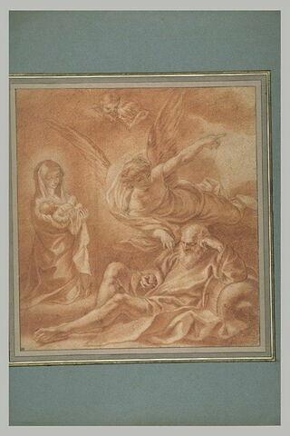 L'ange éveillant saint Joseph pour fuir en Egypte