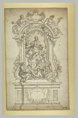 Sigismond, roi des Burgondes apparaissant à un jeune-homme blessé