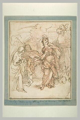 Judith coupant la tête d'Holopherne