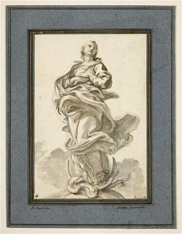 Vierge sur un croissant de lune écrase le Serpent : l'Immaculée Conception