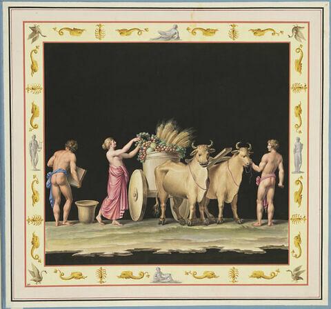 Scène de moisson ou Offrande à Pomone
