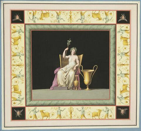 Pomone-Cérès au repos avec deux vases