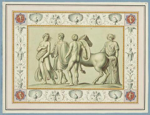 La jeunesse et l'éducation de Dionysos en Inde