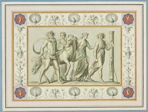 La jeunesse et l'éducation de Dionysos