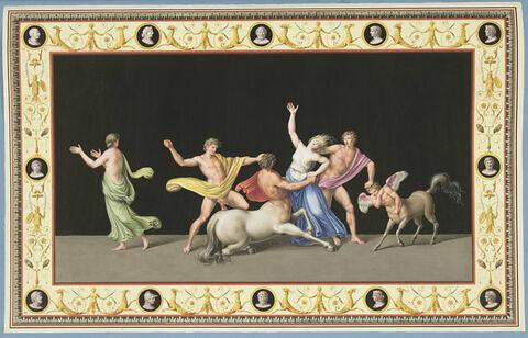 Enlèvement d'une laphite par un centaure