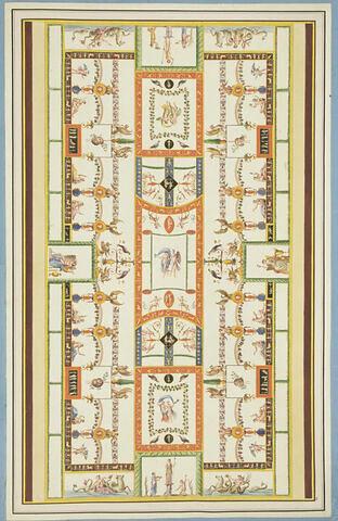 Décoration de voûte, entremêlée de figures diverses