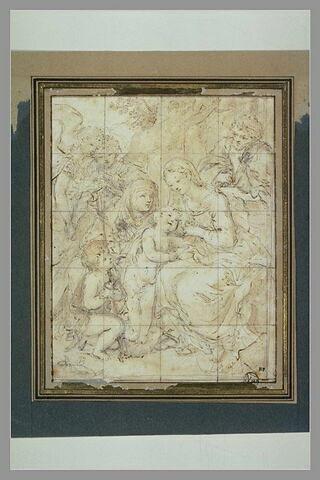 La Sainte Famille avec sainte Elisabeth et saint Jean-Baptiste