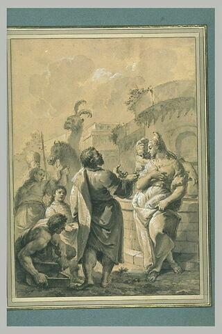 Eliezer et Rebecca à la fontaine