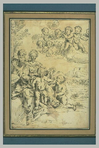 Sainte Famille et le petit saint Jean