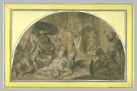 Sainte Claire mettant en fuite les Sarrasins