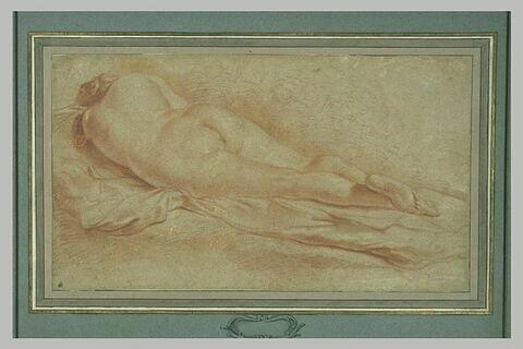 Femme nue, couchée, de dos
