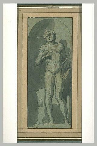 Statue d'Apollon dans une niche