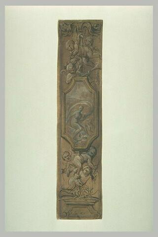 Panneau décoratif, avec Amphitrite