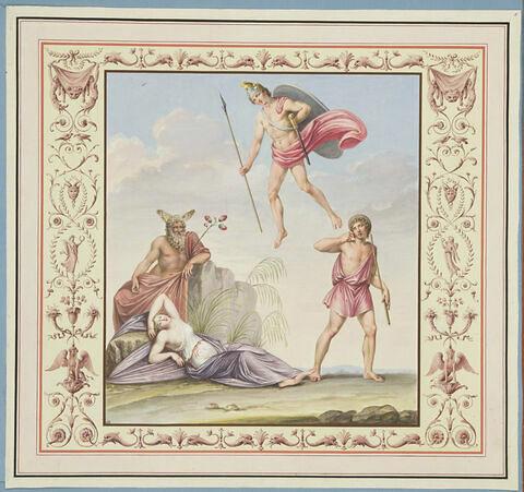Ariane endormie à Naxos est abandonnée par Thésée